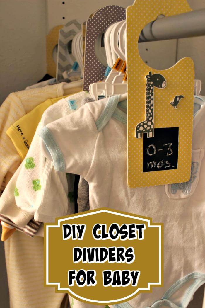 Diy Closet Dividers For Baby Clothes