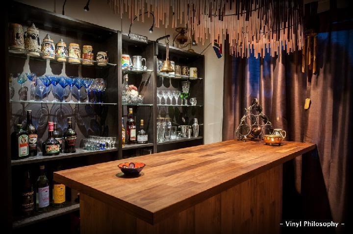 DIY Amazing Indoor Home Bar Made of IKEA BILLY Bookcase