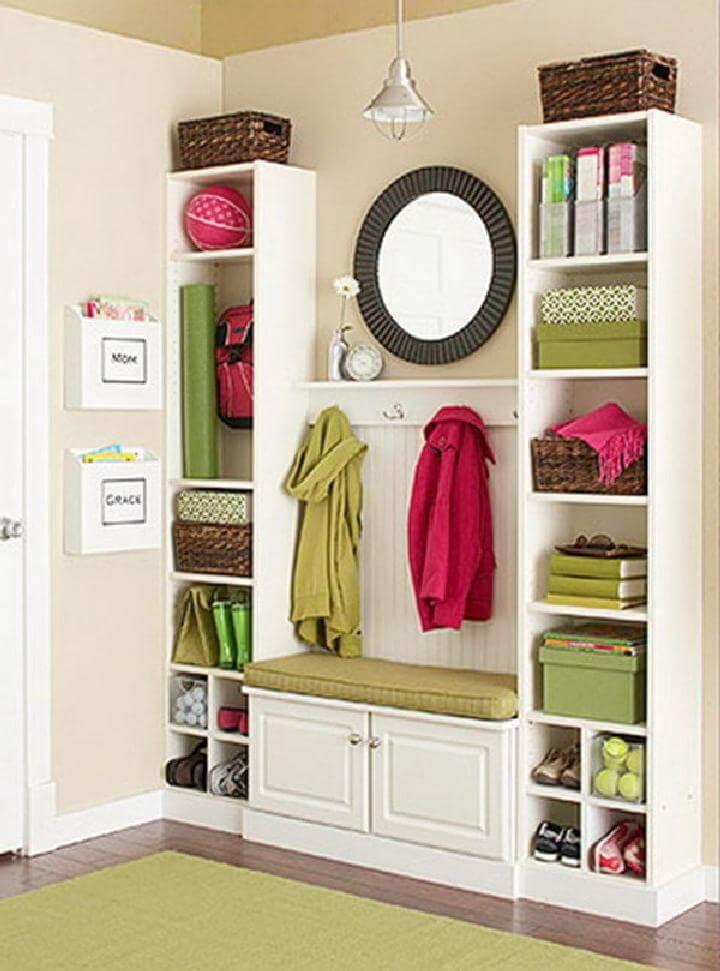 DIY Amazing and Creative IKEA BILLY Bookcase Mudroom