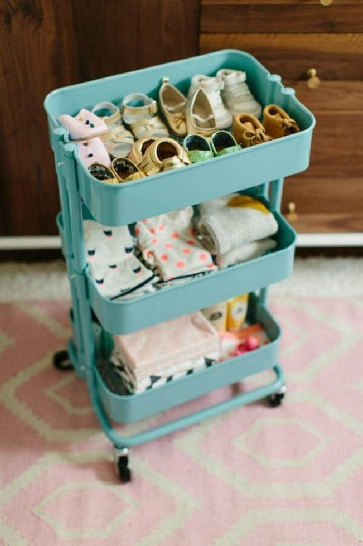 DIY Baby Shoes and Clothing Cart