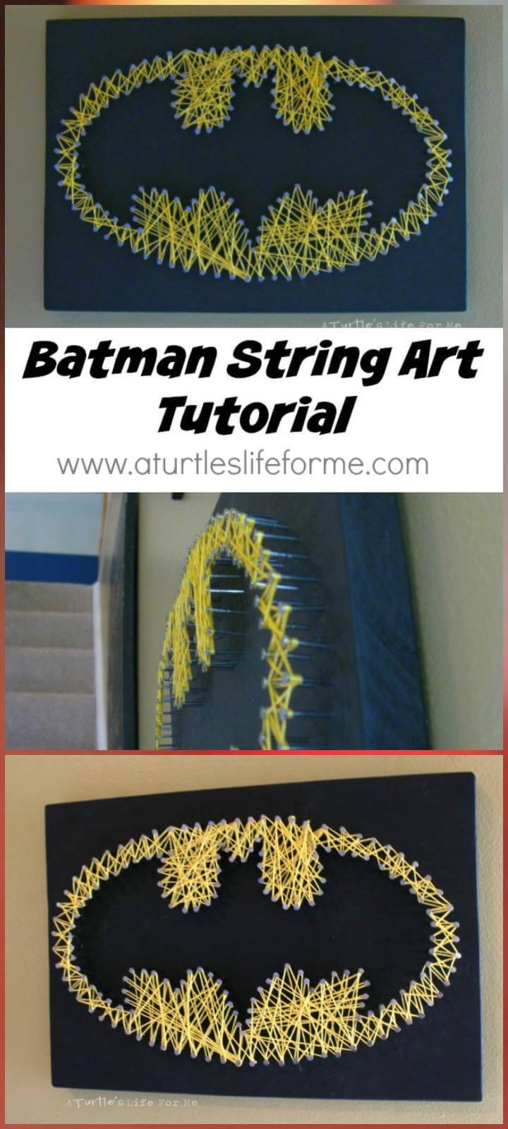 DIY Batman String Art