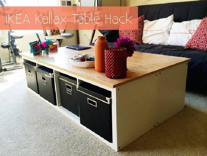 DIY Brilliant IKEA Kallax Storage Coffee Table