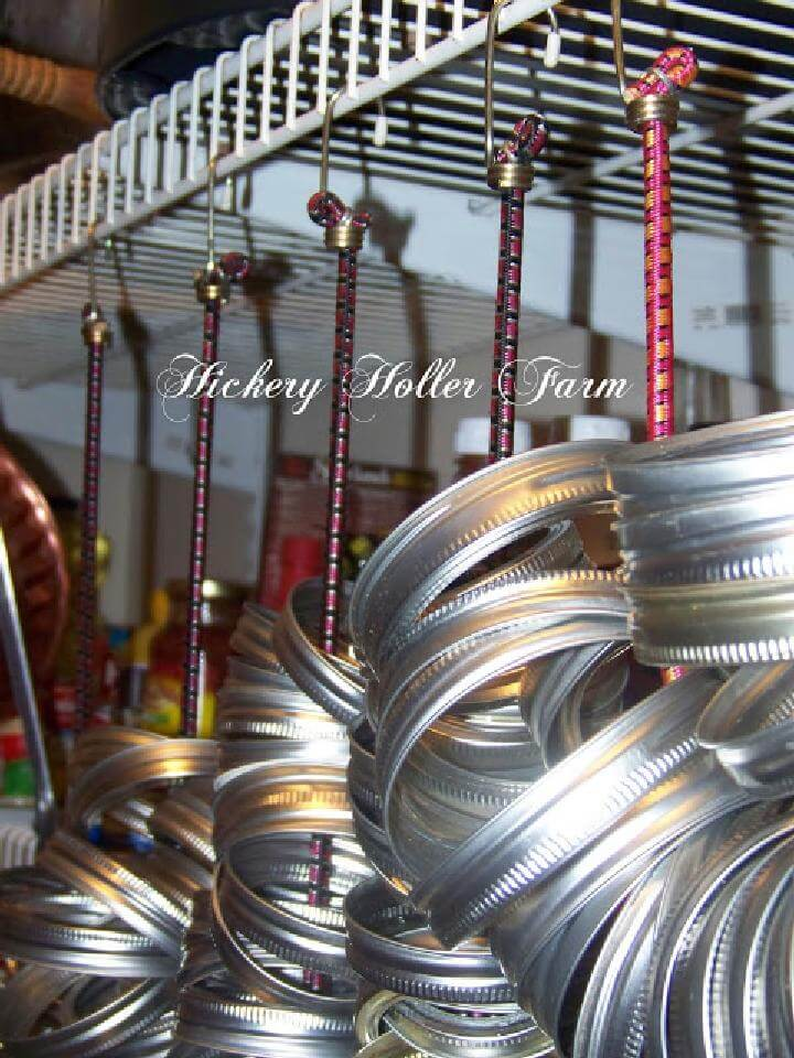 DIY Bungee Cord Bulky Jar Ring Holders