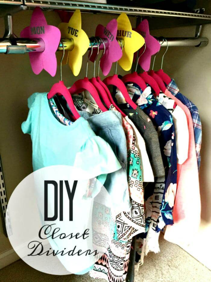 DIY CLOSET DIVIDERS FOR BACK TO SCHOOL