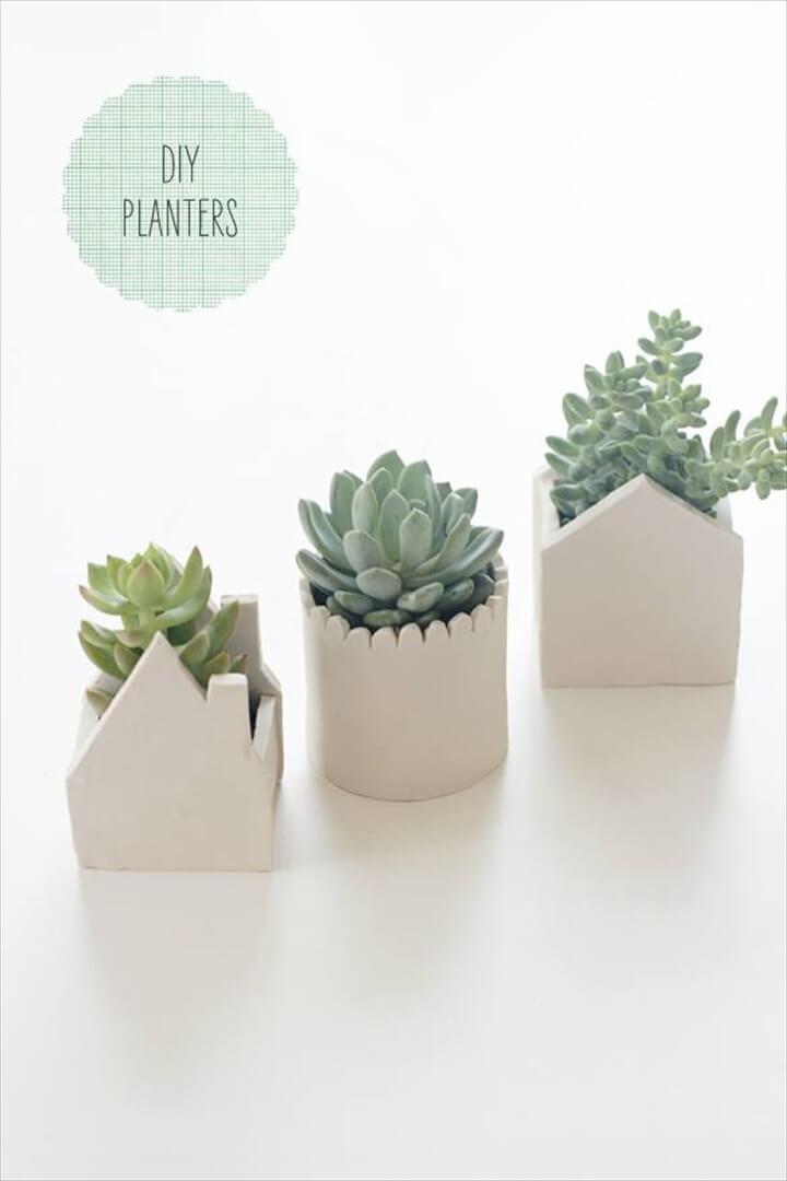 DIY Clay Succulent Planters