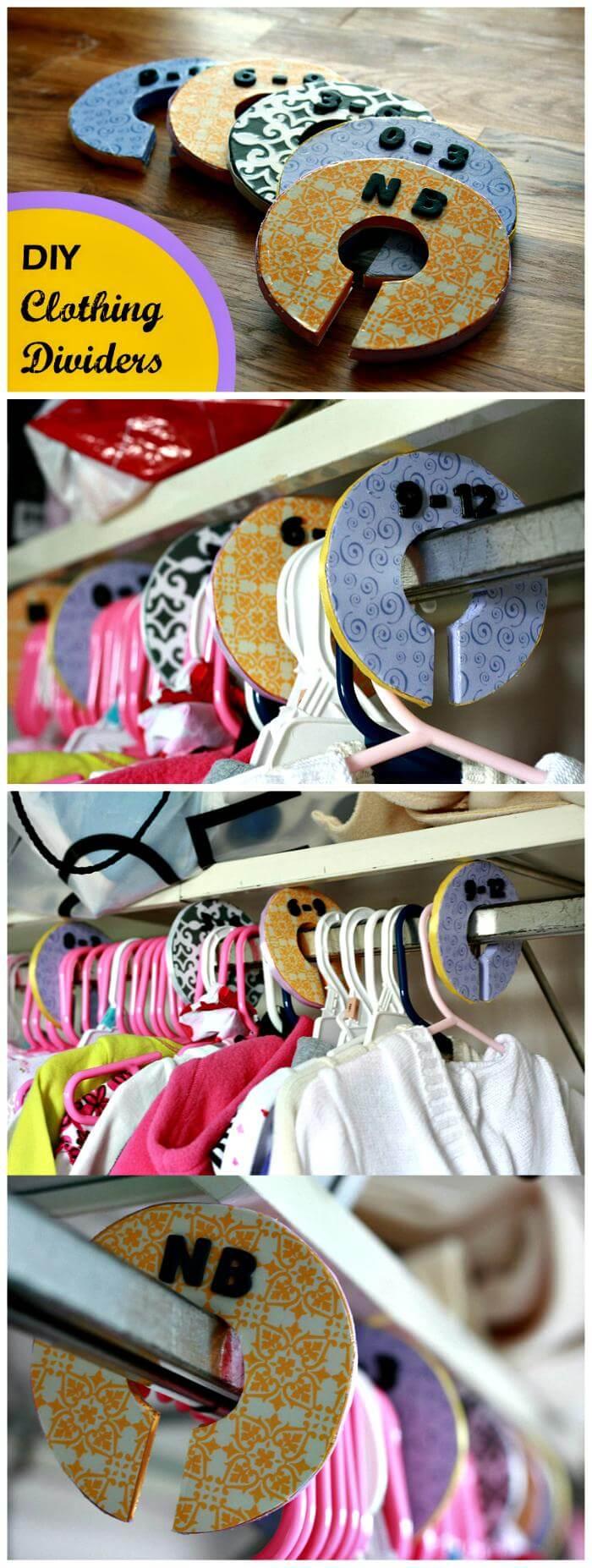 DIY Clothing Dividers