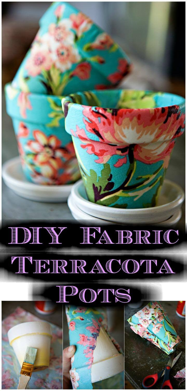 DIY Fabric Terracota Pots