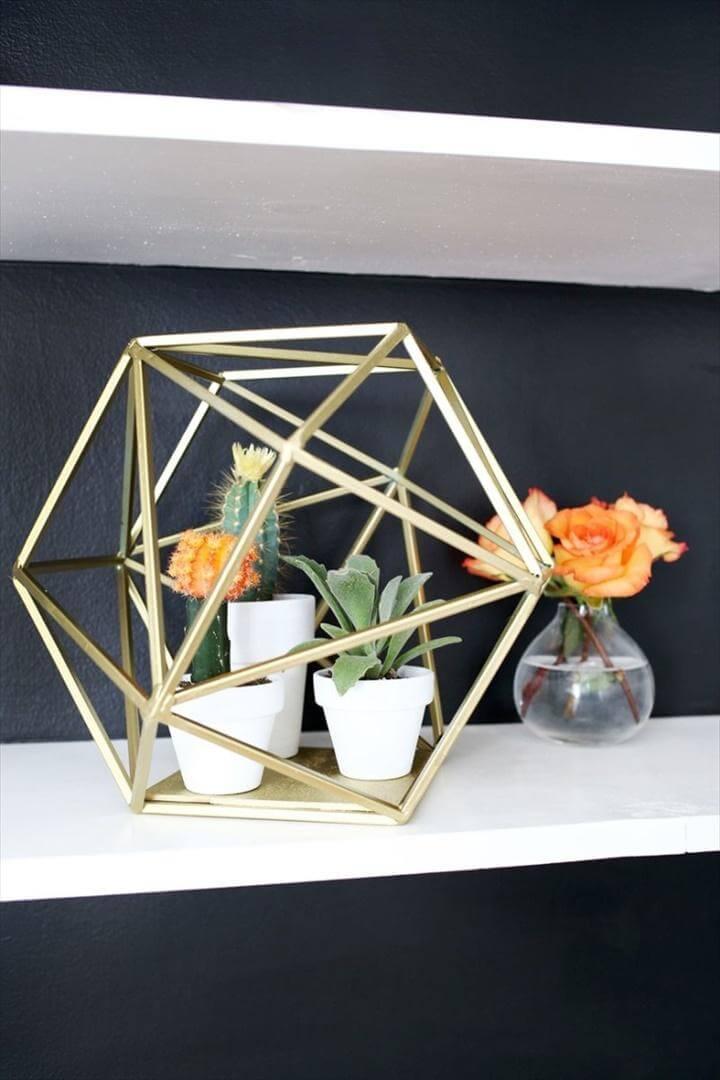 DIY Geometric Globe Succulent Planter