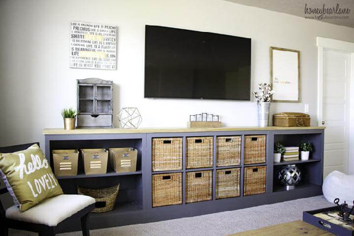 DIY IKEA Expedit Long Storage Unit