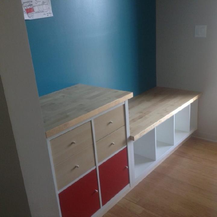 DIY IKEA Kallax Built-in Bench with Storage