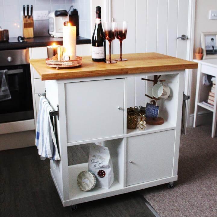 DIY IKEA Kallax Kitchen Island