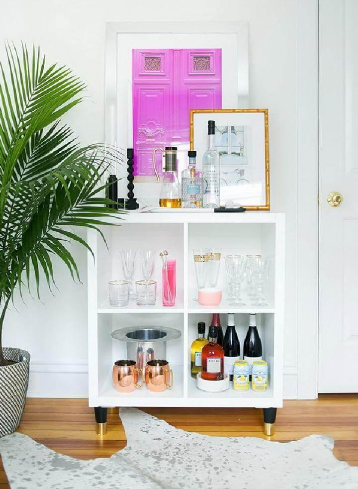 DIY IKEA Kallax Mini Home Bar
