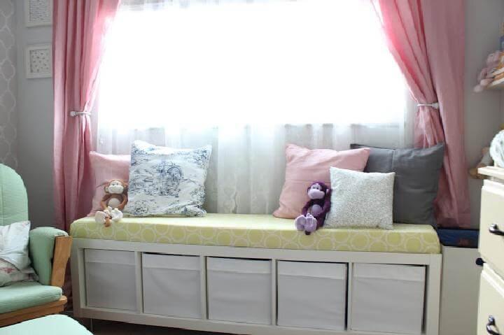 DIY IKEA Kallax No-Sew Window Bench