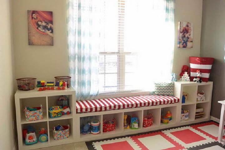 DIY IKEA Kallax Playroom Storage