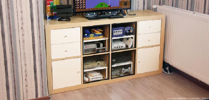 DIY IKEA Kallax Retro Gaming Cabinet
