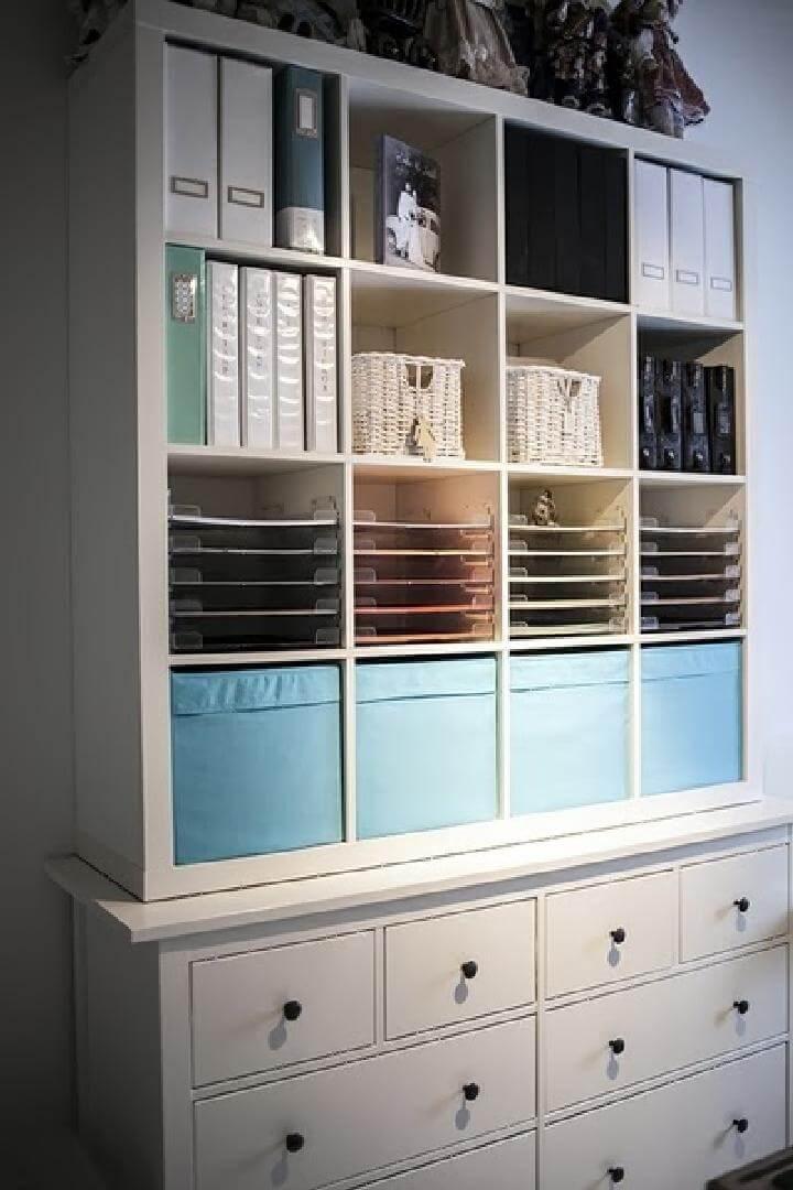 DIY IKEA Kallax and Hemnes Craft Storage Unit