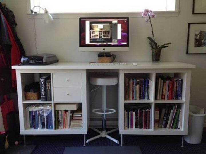 DIY IKEA Kallax into Standing Desk