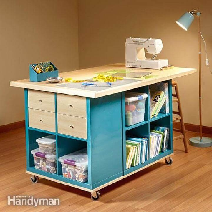 DIY IKEA Shelves Craft Room Storage