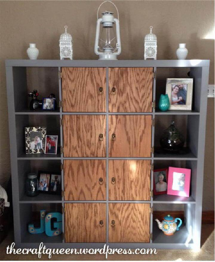 DIY IKea Kallax or Expedit Storage and Display Unit Makeover