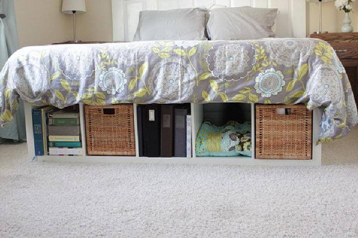 DIY Kallax Platform Bed with Storage