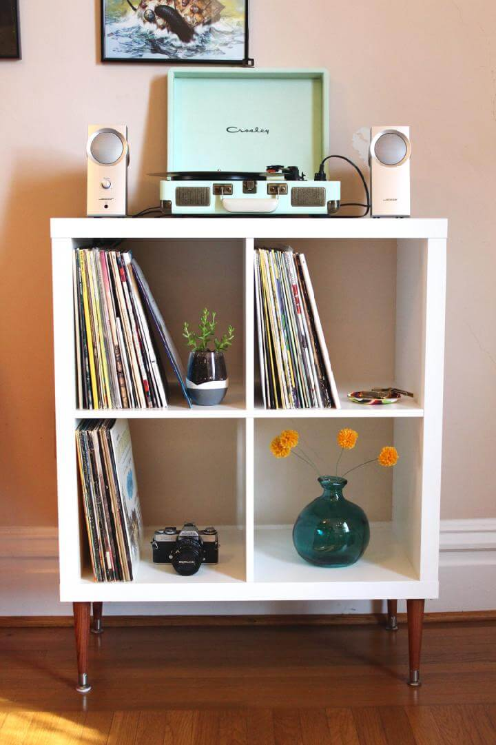 DIY Kallax Vinyl Record Shelf
