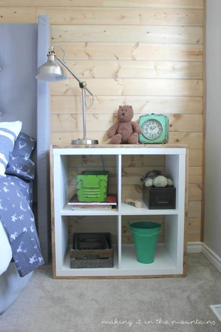 DIY Kallax aand Plywood Nightstand