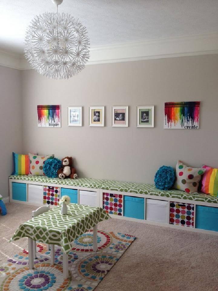 DIY Kid's Playroom Kallax Hacks