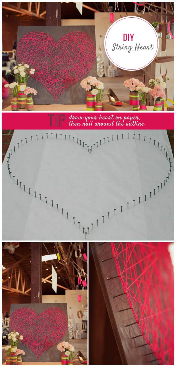 DIY Lovely Heart String Art