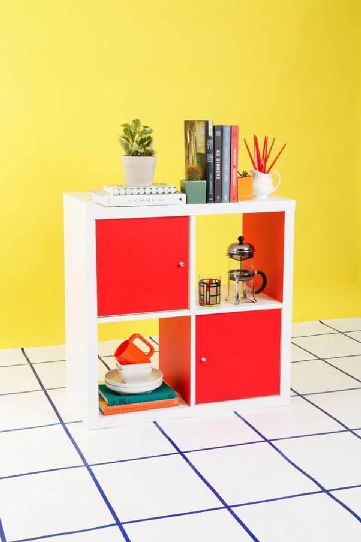 DIY Smart IKEA Kallax Hack with Pops of Colors and Doors