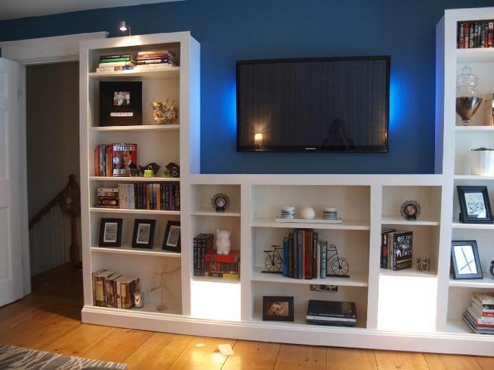 DIY Smart Transformation - IKEA BILLY Bookshelves into Built-ins