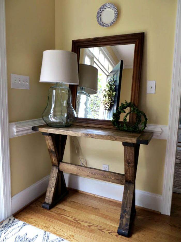 25 best diy entryway table ideas with tutorials page 3. Black Bedroom Furniture Sets. Home Design Ideas