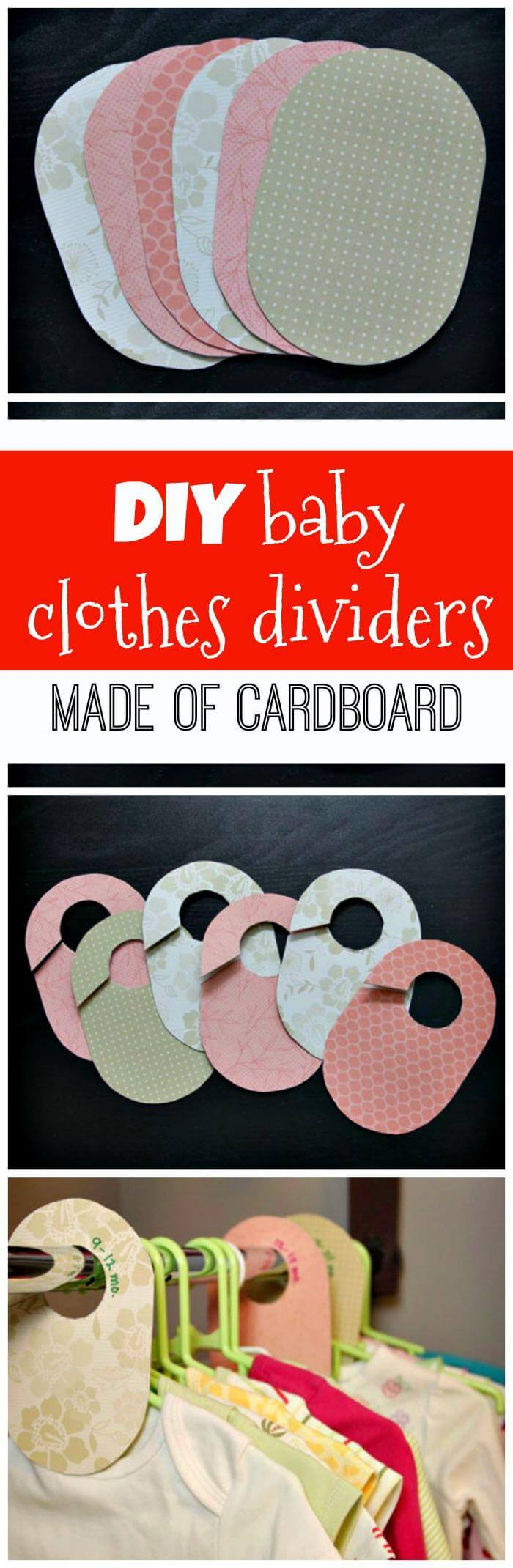 DIY baby clothes dividers made of cardboard