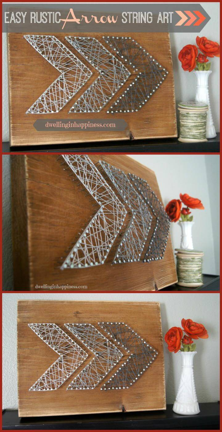 DIY Easy Rustic Arrow String Art