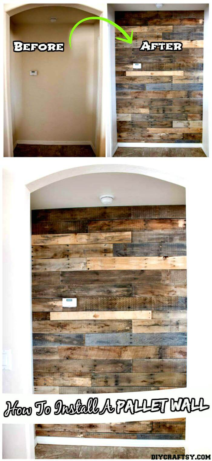 150 best diy pallet projects and pallet furniture crafts for How to install a mirror on the wall