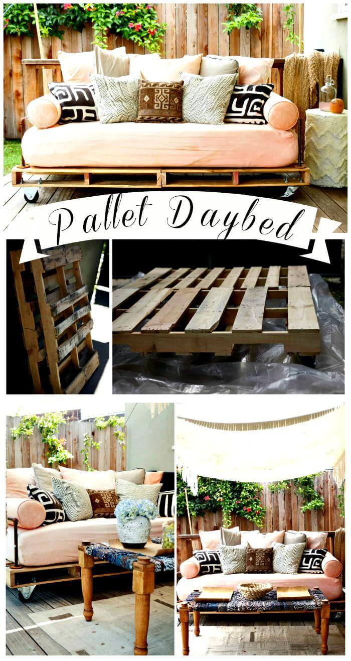 150 best diy pallet projects and pallet furniture crafts for How to make a pallet daybed