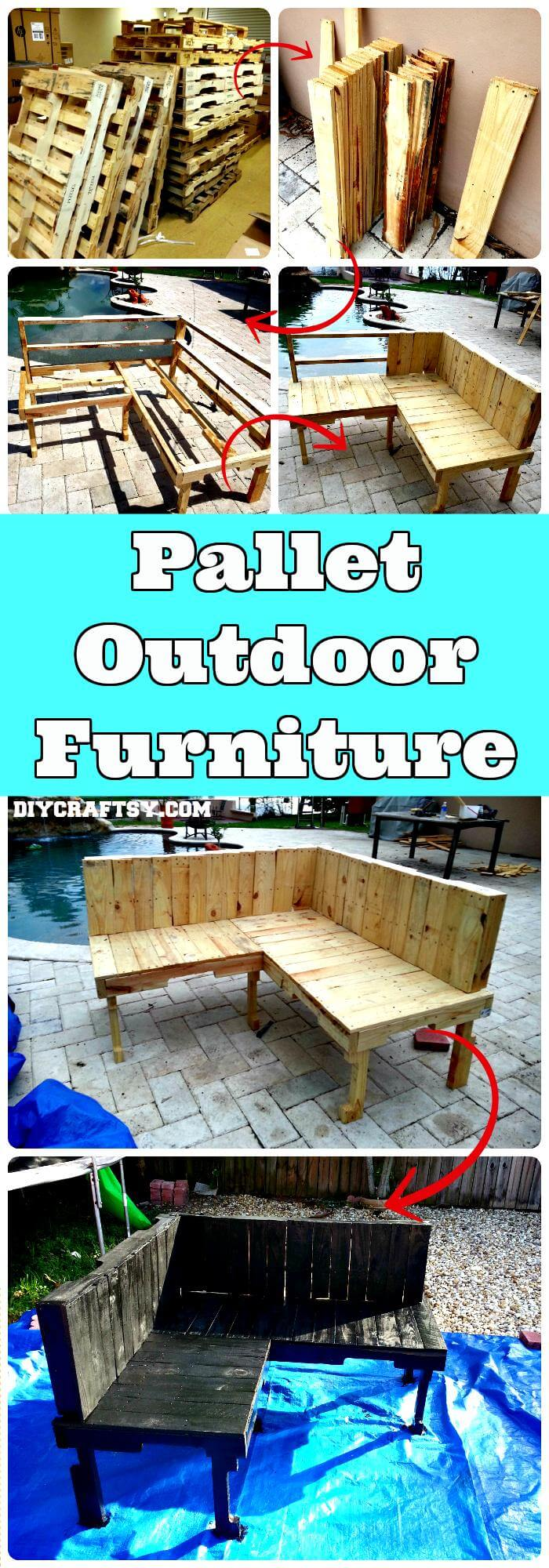 how to build outdoor furniture with pallets