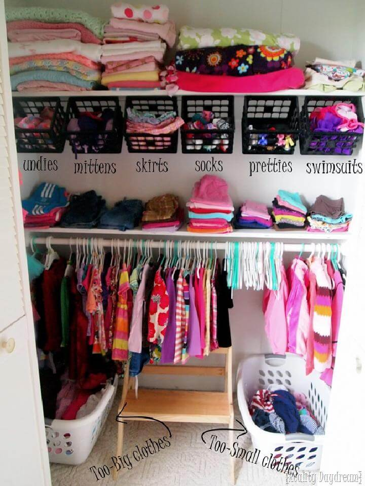 updated kid s closet baby clothes storage idea