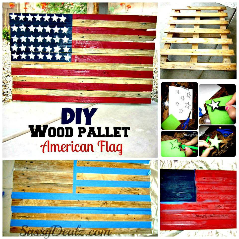 50 diy patriotic decorations to celebrate america diy crafts. Black Bedroom Furniture Sets. Home Design Ideas