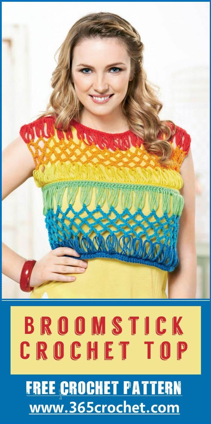 Broomstick Crochet Top