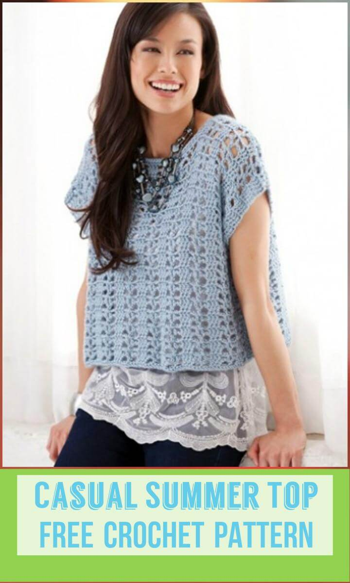 Casual Summer Top Free Crochet Pattern