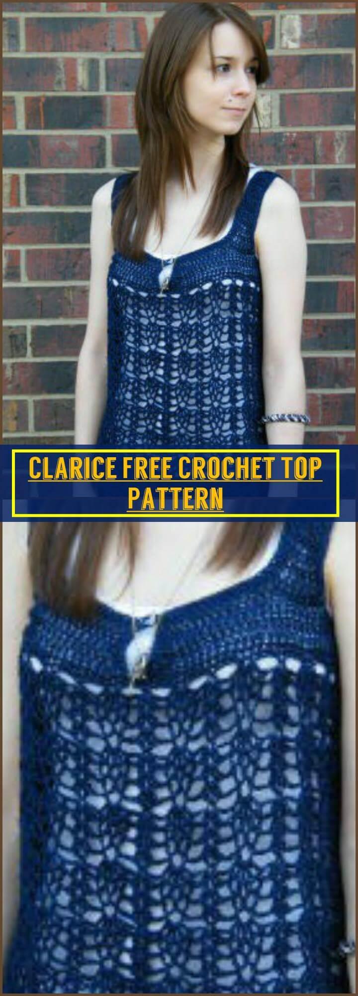 Clarice Free Crochet Top Pattern