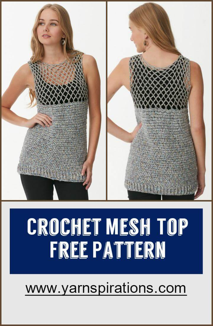 Free Crochet Patterns For Mesh Tops : 110+ Free Crochet Patterns for Summer and Spring - Page 7 ...