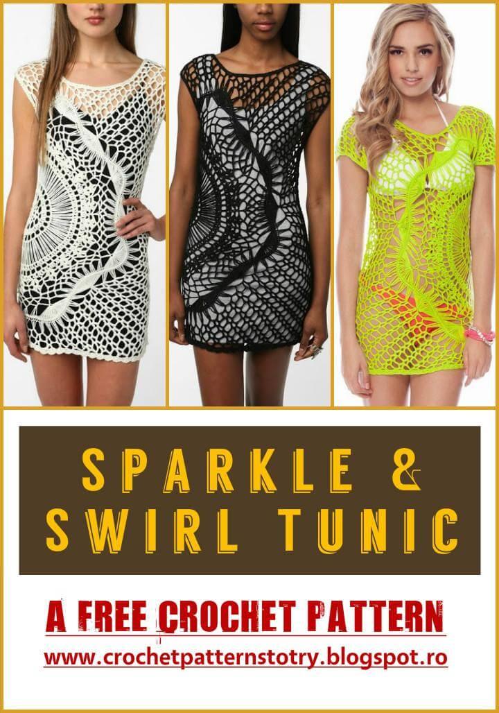 Crochet Sparkle Swirl Tunic