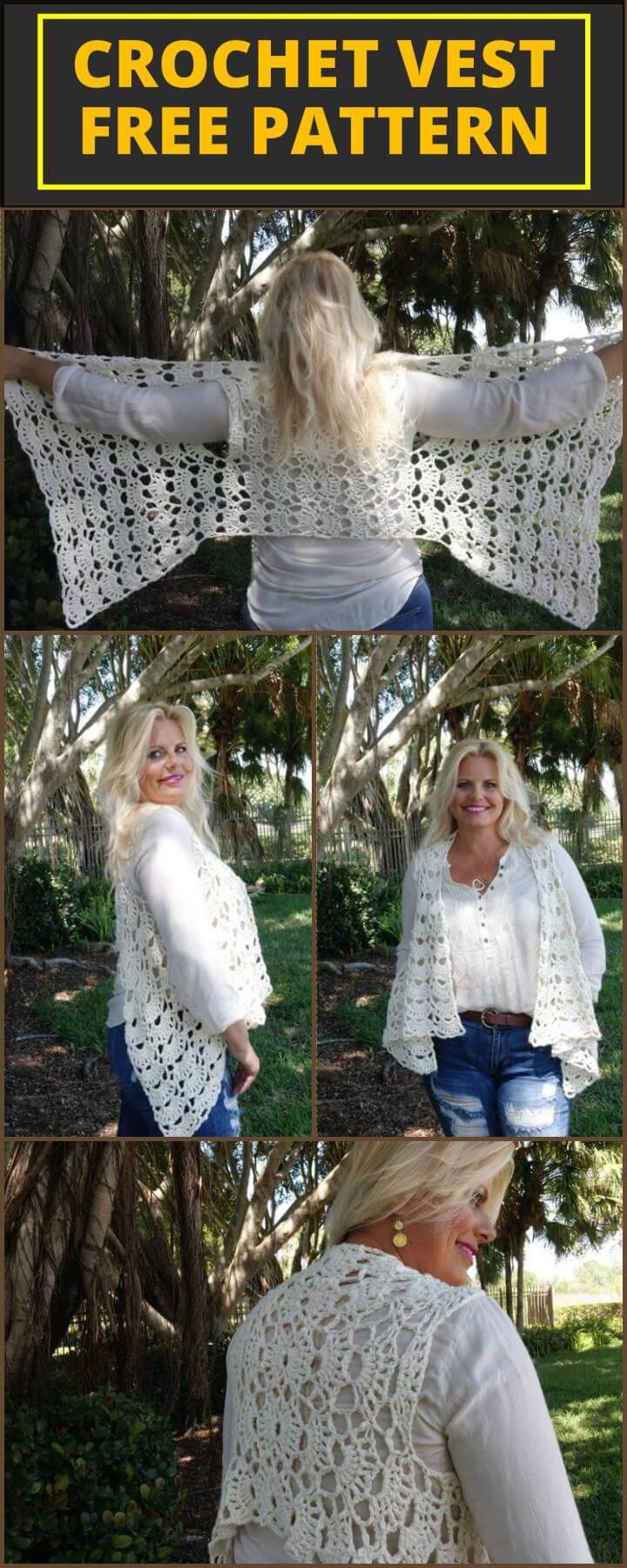 Stylish Crochet Vest Free Pattern