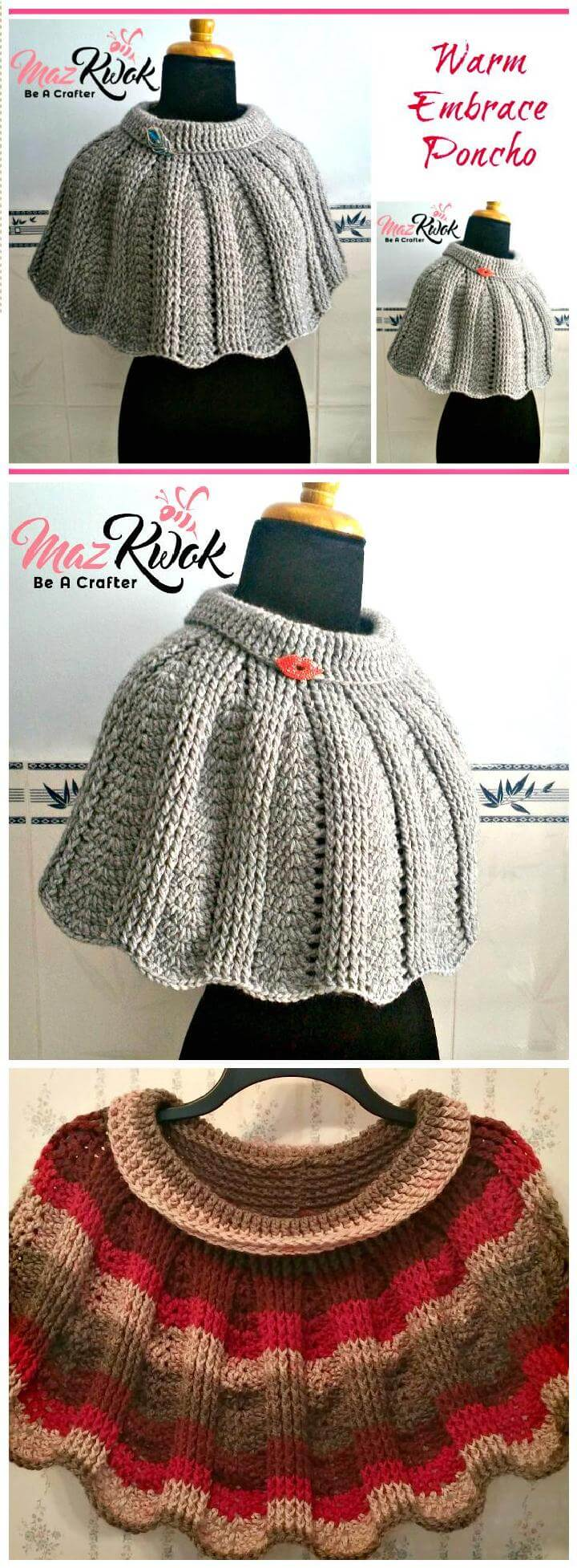 Crochet Warm Embrace poncho