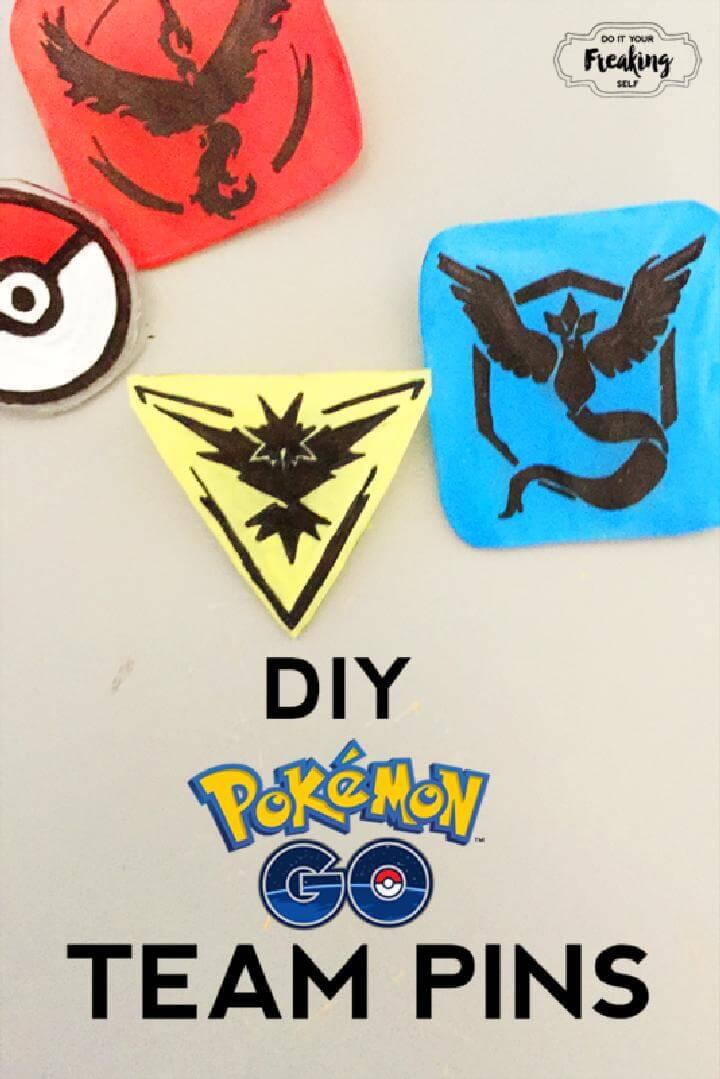 DIY Beautiful Pokemon Go Pins
