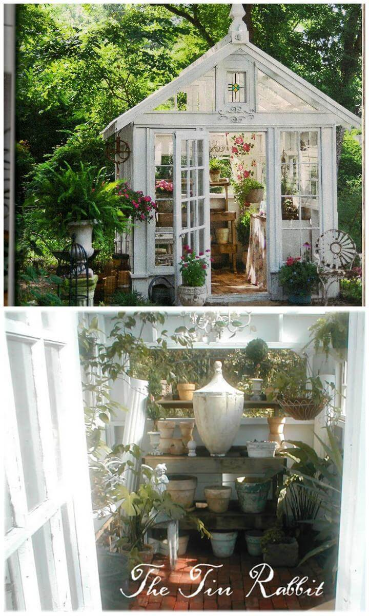 DIY Beautiful White Greenhouse