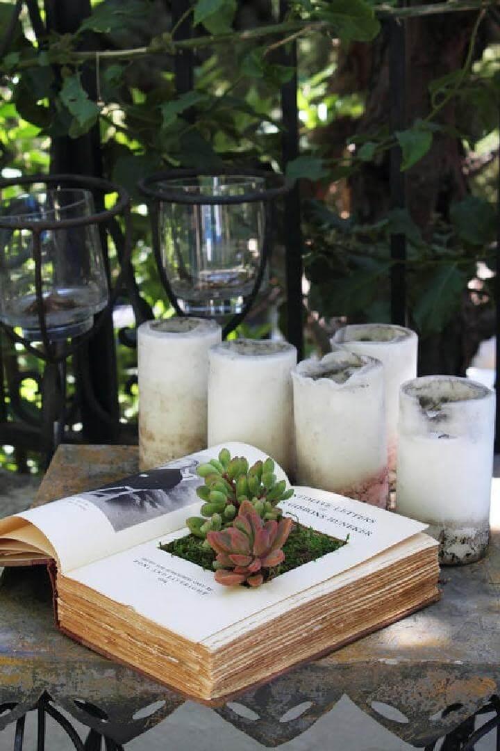 Repurposed Book Succulent Planter