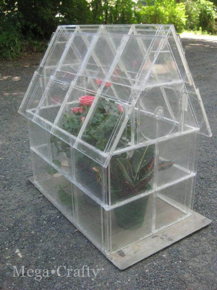 DIY CD Case Greenhouse