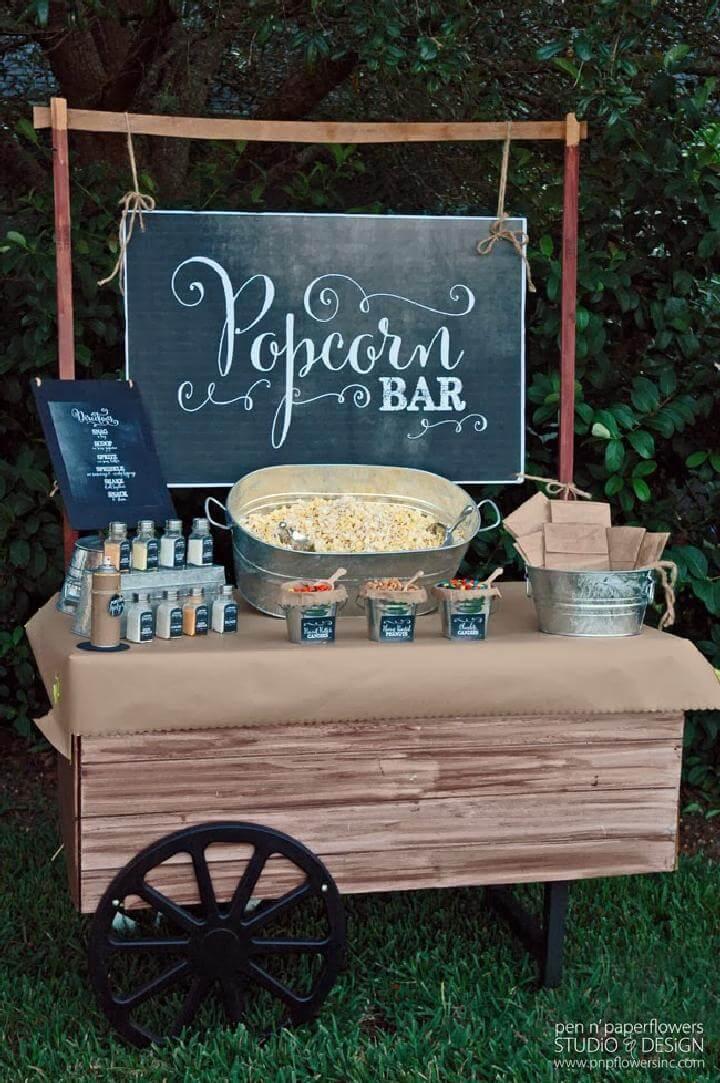 DIY Chalkboard Popcorn Bar
